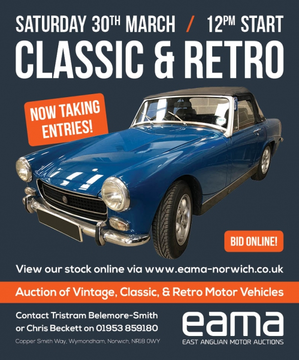 Classic Retro Auction East Anglian Motor Auctions